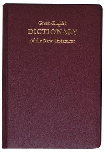 Concise Greek-english Dictionary of the New Testament