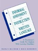 Download Informal assessment and instruction in written language