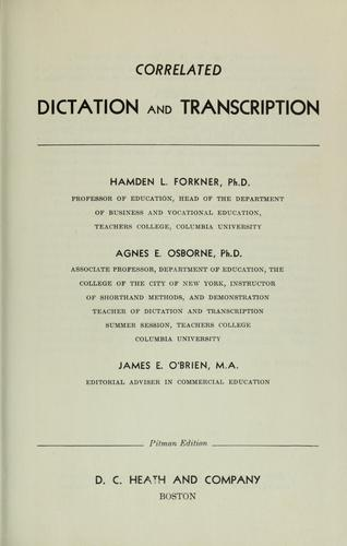 Download Correlated dictation and transcription
