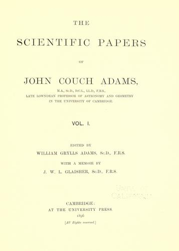 Download The scientific papers of John Couch Adams …