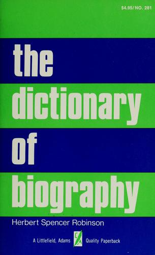 Download The dictionary of biography