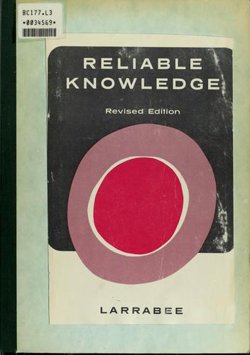 Download Reliable knowledge