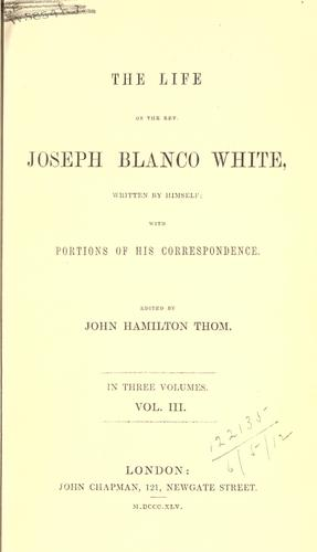 Download The life of Joseph Blanco White