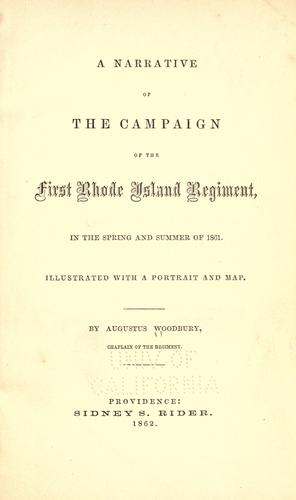 Download A narrative of the campaign of the First Rhode Island regiment, in the spring and summer of 1861 …