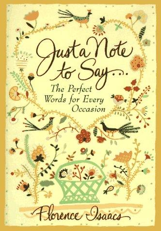 Download Just a Note to Say . . .