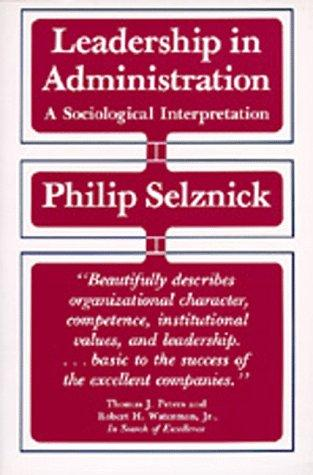 Download Leadership in Administration