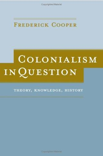 Download Colonialism in Question