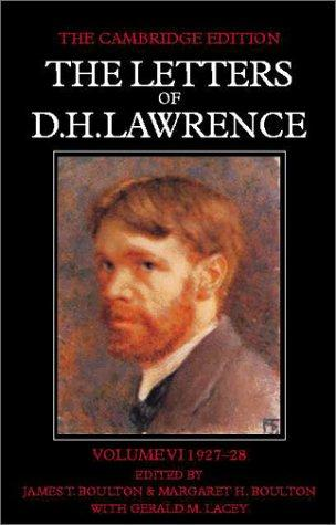 Download The Letters of D. H. Lawrence (The Cambridge Edition of the Letters of D. H. Lawrence)