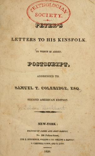 Download Peter's letters to his kinsfolk