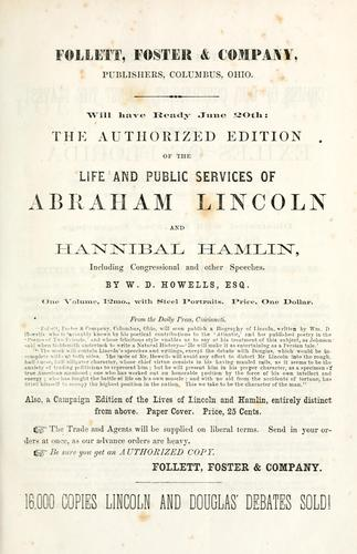 Political debates between Hon. Abraham Lincoln and Hon. Stephen A. Douglas by Abraham Lincoln