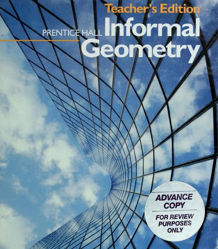 Prentice Hall informal geometry by Philip L. Cox