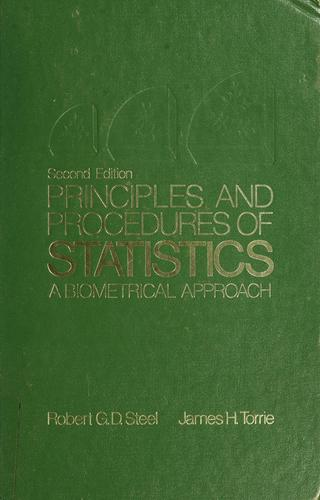 Principles and procedures of statistics