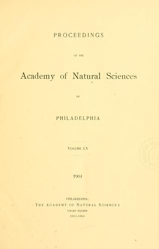 Download Proceedings of the Academy of Natural Sciences of Philadelphia, Volume 55