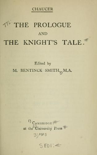 The prologue and The knight's tale.