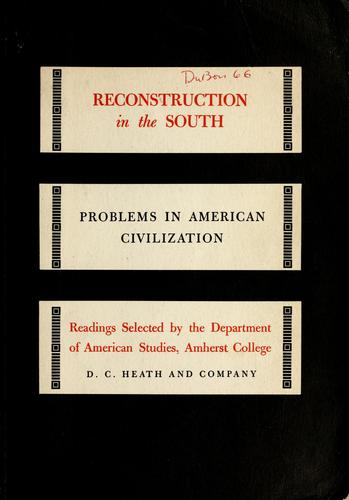 Download Reconstruction in the South.