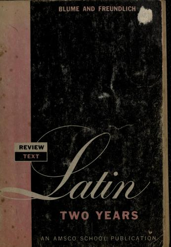 Review text in Latin two years by Eli Blume