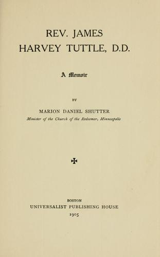 Download Rev. James Harvey Tuttle, D. D.