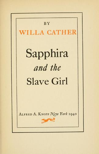 Sapphira and the slave girl.