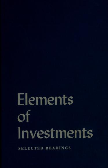 Elements of investments by Hsiu-Kwang Wu