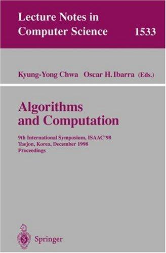 Algorithms and Computation by