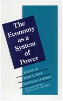 The Economy as a System of Power by
