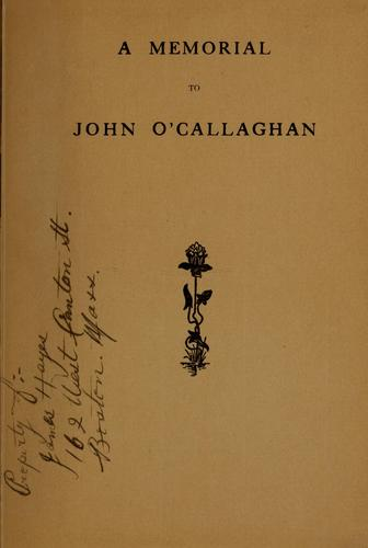 A memorial to John O'Callaghan by