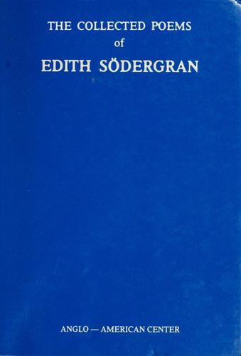 The Collected poems of Edith Södergran by