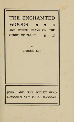The enchanted woods by Vernon Lee