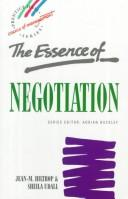 Essence of Negotiation by Jean-Marie Hiltrop