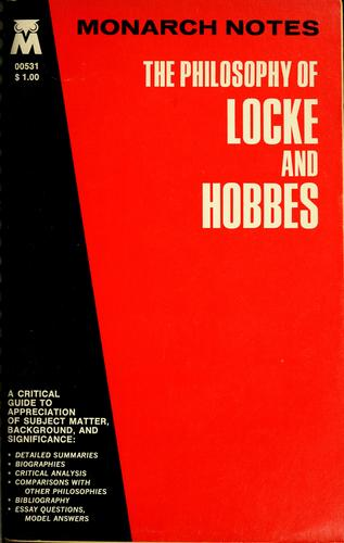 The philosophy of Locke and Hobbes by Sugwon Kang