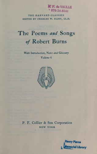 The poems and songs of Robert Burns by Robert Burns