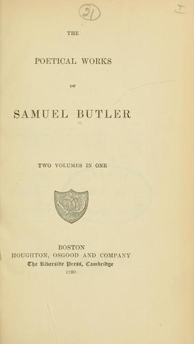 Poetical works by Samuel Butler