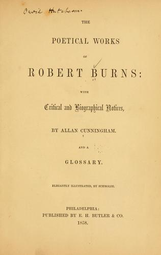 The poetical works of Robert Burns by Robert Burns
