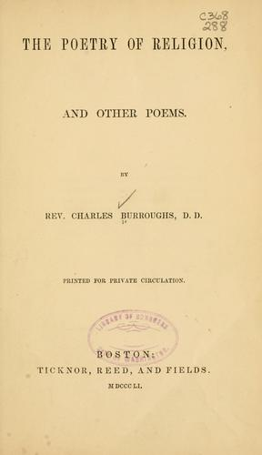The poetry of religion by Charles Burroughs