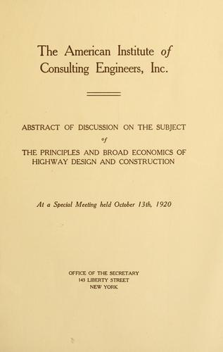 Proceedings of annual meeting by American Institute of Consulting Engineers